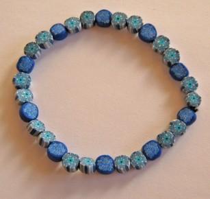 """Fimo Armband """"Blue Mauritius"""""""